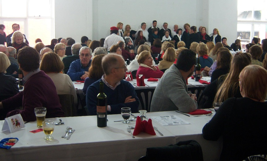 Lunch and choir