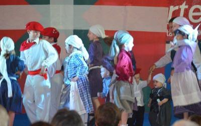 The txikis at Zingirako Euskaldunak at the 25th annual Basque Festival