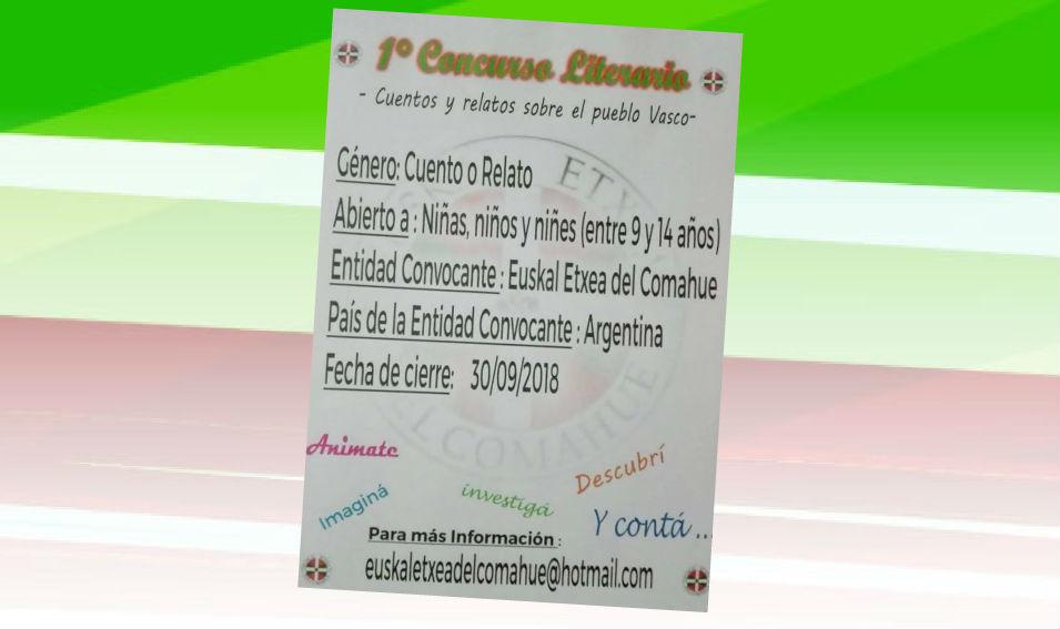 Comahueko Euskal Etxearen Euskal Herriari buruzko I. Ipuin Lehiaketa