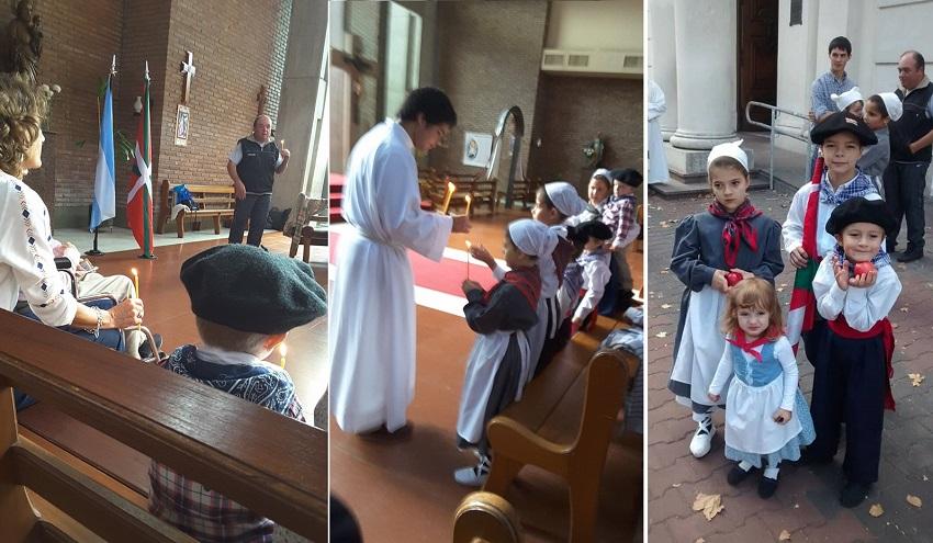 In Olavarria, mass and children's dances