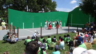 Dance performance at the pilota court constructed in the National Mall in Washington DC