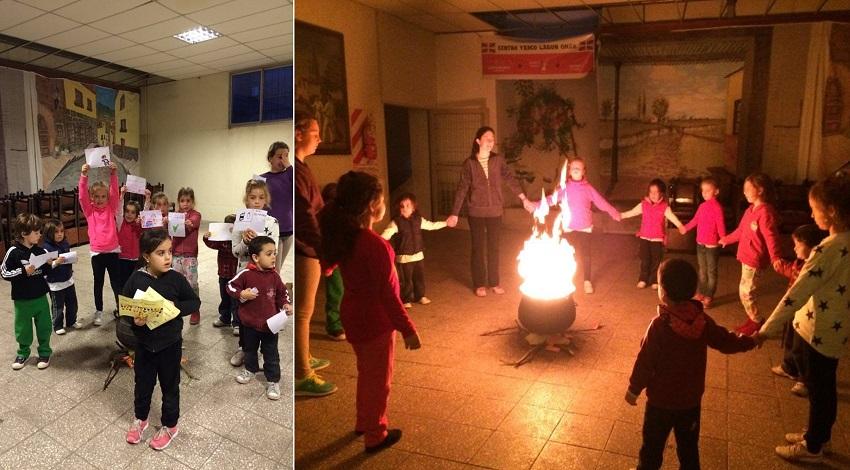 Small bonfire in Pergamino for the children
