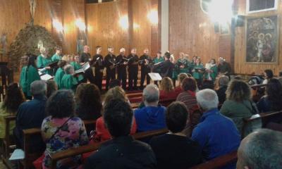 Tandilgo Gure Abestiak korua San Martin de los  Andesko San Jose elizan (argazkia EE)