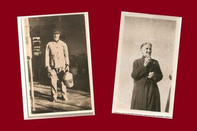 Los bisabuelos Juana Segundo Eguiazu y Manuel Alejo Eguiazu, dedicados en Victoria a la lechería