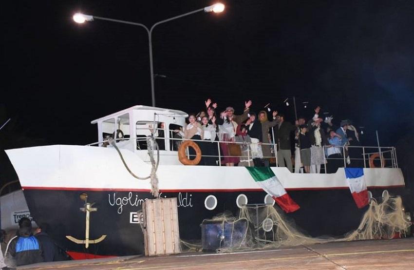 'Inmigrante' ikuskizuna Trenque Lauquenen