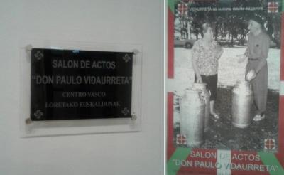 Loretako Euskalduna Euskal Etxeko 'Don Paulo Vidaurreta' aretoa (argazkia EE)
