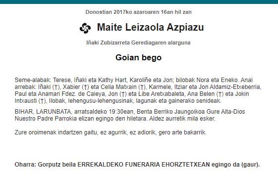 Maite Leizaola Azpiazu