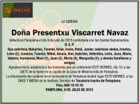 Presentxu Viscarret Navaz