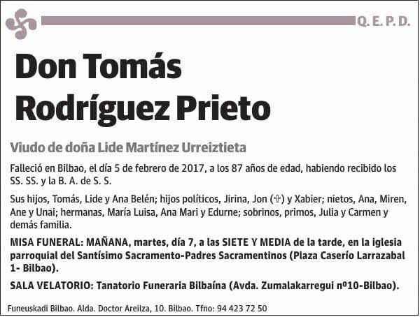 Tomás Rodríguez Prieto