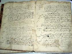Libro de registros sacramentales, Bilbao, 1572-1589 (Foto AHEB)
