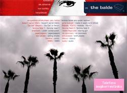 Portada de la versión online de The Balde, con el último número de la revista