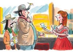 Los dibujos de Mikel Valverde ilustran las aventuras del pistolero vascomericano Garmendia