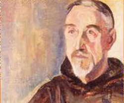 Retrato de pintura del fraile capuchino Jose Gonzalo Zulaika, 'Aita Donostia' (1886-1956)