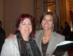 Izaskun Bilbao (esk) eta Euskadiko ordezkaria Argentinan, Marieli Díaz de Mendibil, 2006ko irailean argentinar parlamentuak Bilbao 'ohorezko hiritar' izendatu zuenean (arg. Diasporavascarg)