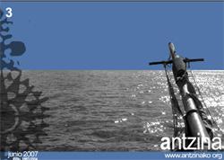 Portada del tercer número de Antzina, que puede descargarse gratuitamente desde Antzina.org