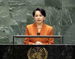 La presidenta de Filipinas Gloria Macapagal