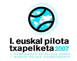I. Euskal Pilota Txapelketaren afitxa