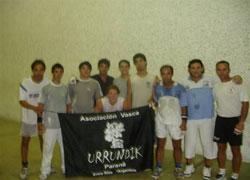Imagen de los pelotaris participantes en el torneo