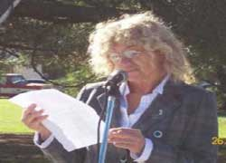 Nekane Olazar, secretaria del CV 'Villegas-ko Euskaldunak' de General Villegas, en Argentina
