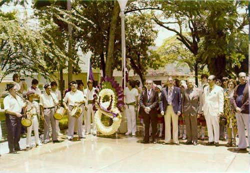 Ceremony of inauguration of the Valencia-Carabobo Basque Club and facilities in 1975