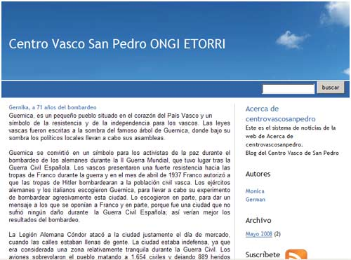 San Pedroko (Buenos Aires Probintzia, Argentina) Ongi Etorri Euskal Etxearen bloga