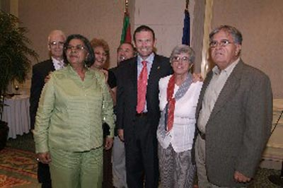 Members of the Puerto Rico Basque Center with Basque president Ibarretxe