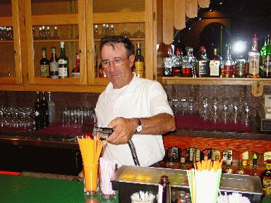 "Ramon Zugazaga from Gernika at the bar of his ""Biltoki"" restaurant in Elko"