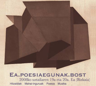 Cartel de las jornadas, con la imagen 'Poeta a-sozialaren buruezurra' de Poste