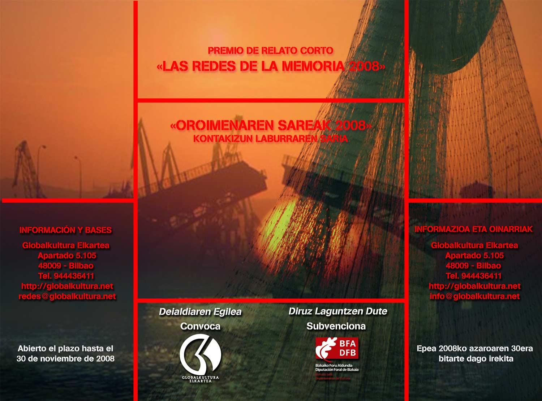 """Cartel anunciador de """"Las redes de la memoria 08"""""""