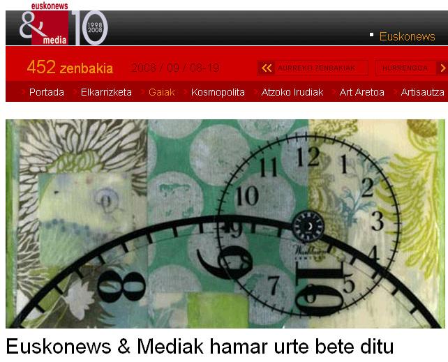 EuskoNews-ek diseinu berria jantzi du urteurrena ospatzeko