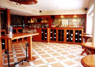 Wine cellar at the Delicias del Mar restaurant at Reñaca