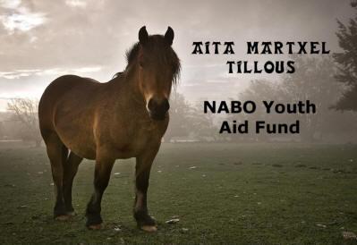 Aita Martxel Tillous NABO Youth Aid Fund bekaren afitxeko irudia (argazkia Nabasque.org)