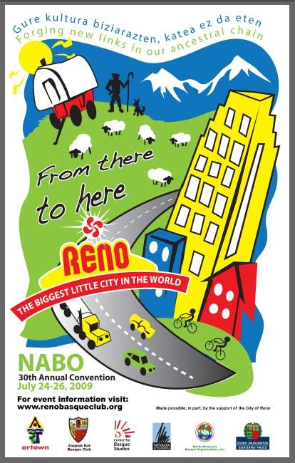 Poster de la Convención y Fiesta Vasca de Reno 2009