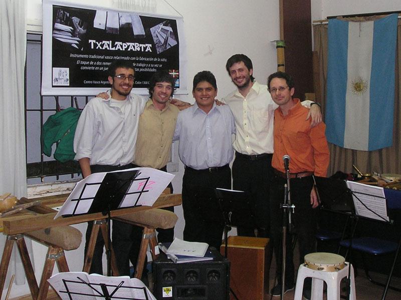 Baietz taldeko kideak: Franco Seghesso, Agustín Alonso, José Fernández, Gaspar jaurena eta Fernando Zabalza
