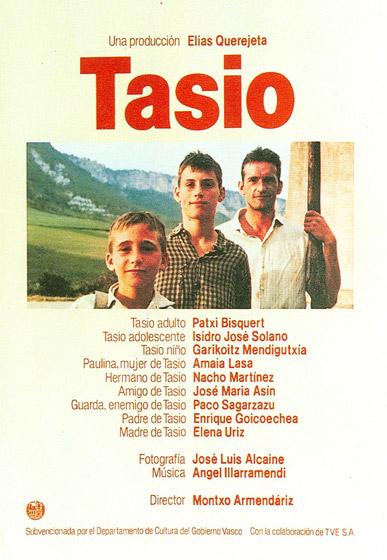 Tasio filmaren afixa; Montxo Armendarizen 1984an zuzendu zuen