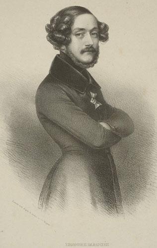 Retrato del pintor francés Isodore Magues, perteneciente a la colección de retratos 'Don Carlos et ses défendeurs'.