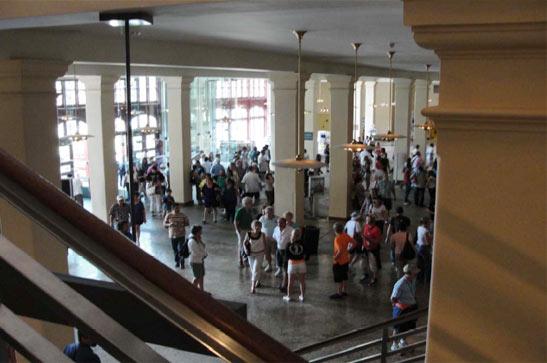 Ellis Island-eko turisten sarrera