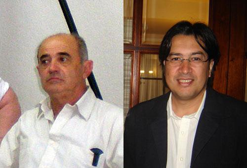 Ricardo Basterra (izquierda) y Alejo Martín (derecha), de Santa Rosa (La Pampa) y Córdoba capital, respectivamente, candidatos a la presidencia de FEVA (foto EuskalKultura.com)