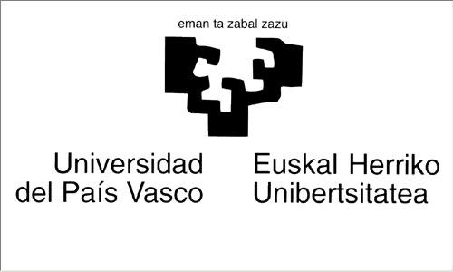 Euskal Herriko Unibertsitatearen (EHU-UPV) logoa, Eduardo Chillida artista donostiarrak diseinatua