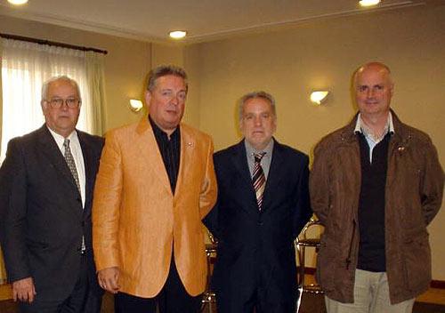 Archibaldo Uriarte, Julián Celaya, Manuel Uriarte eta Andoni Martin.