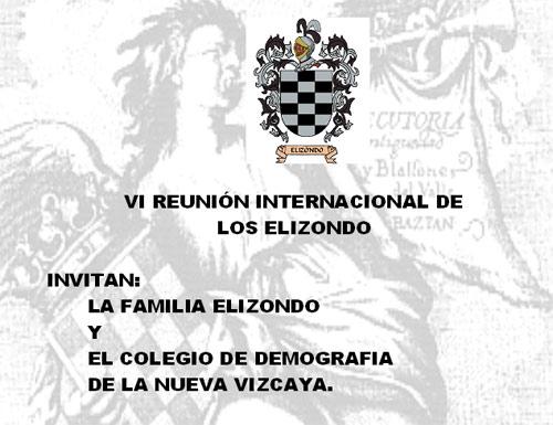 Programa de la VI Reunión Internacional de los Elizondo