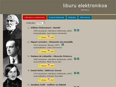 Armiarma.com webgunearen liburu elektronikoa atala