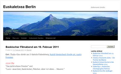 Berlingo Euskal Etxearen webgunearen irudia