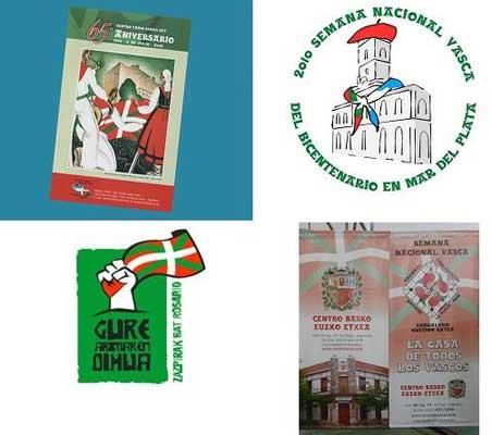 Azken urteetako Euskal Aste Nazionalen logoak
