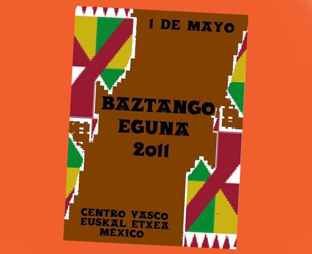 Mexikoko Baztango Eguna 2011eko afixa edo kartela (irudia EuskalKultura.com)