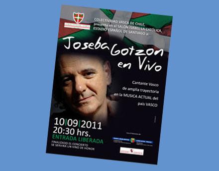 Joseba Gotzonen Txileko Santiagoko kantaldiaren afixa
