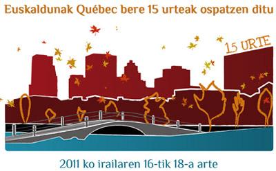 Euskaldunak elkartearen 15. urteurreneko afitxa
