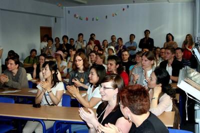 Euskal ekitaldiok badute aurrekaririk: 2011ko maiatzean Poznango Unibertsitatean Euskal Astea egin zen, Euskara eta Euskal Kultura irakurlegoak antolatuta (argazkia ADones)