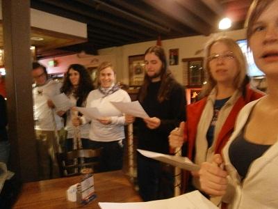 Boiseko euskara ikasleak Santa Ageda egunean ere kantuan atera ziren (argazkia IKortazar)