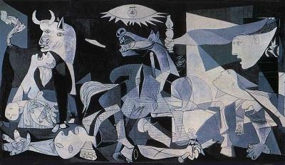 """Picassoren """"Guernica"""" margolan mitikoa graffitti bezala berrinterpretatuko dute Berlinen"""